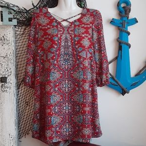 Pink rose tunic/blouse barely used